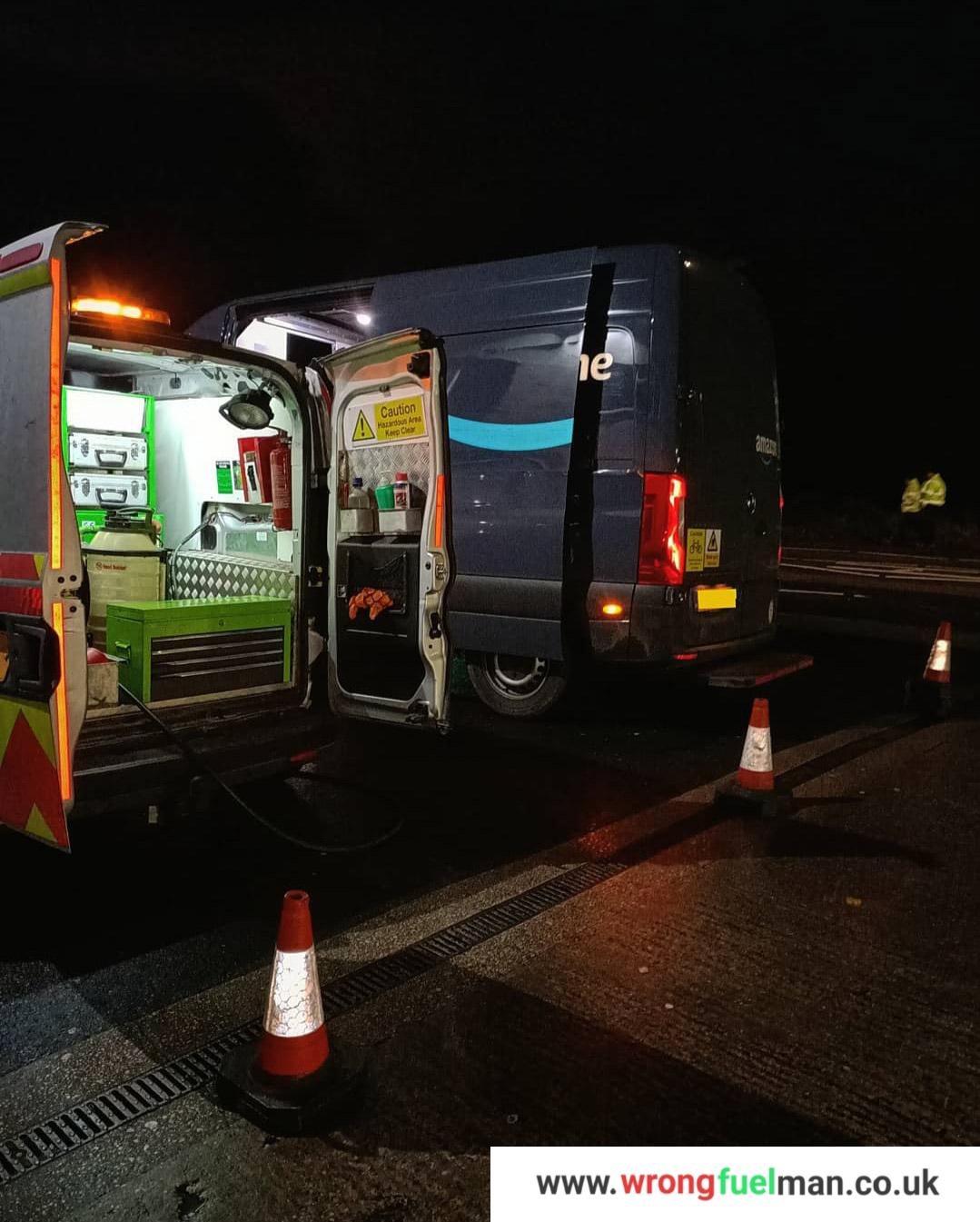 Mercedes van wrong fuel misfuel incident Lancashire